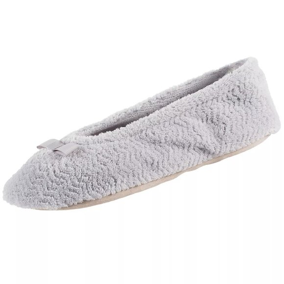 Isotoner Women's Microterry Ballerina Slippers